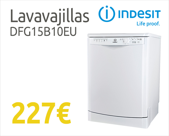 Comprar lavavajillas barato Indesit